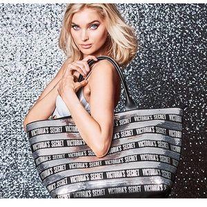 Brand New VS Victoria's Secret silver tote bag